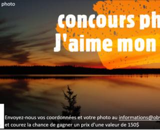 concours photo: J'aime mon lac !