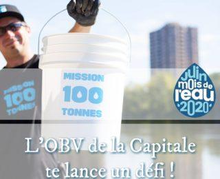 Relève le défi 'Mission 100 tonnes X OBV de la Capitale